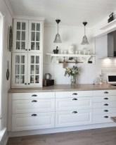 70+ Amazing Farmhouse Gray Kitchen Cabinet Design Ideas 33