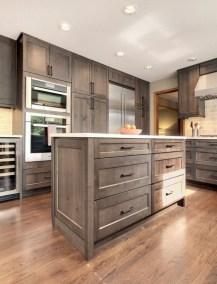 70+ Amazing Farmhouse Gray Kitchen Cabinet Design Ideas 37