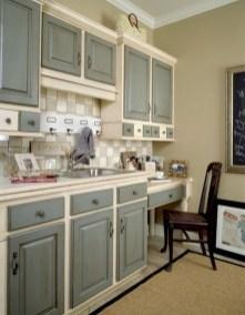 70+ Amazing Farmhouse Gray Kitchen Cabinet Design Ideas 38