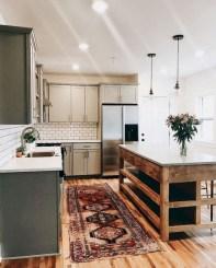 70+ Amazing Farmhouse Gray Kitchen Cabinet Design Ideas 56