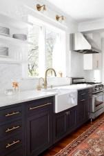70+ Amazing Farmhouse Gray Kitchen Cabinet Design Ideas 57