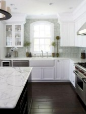 70+ Amazing Farmhouse Gray Kitchen Cabinet Design Ideas 59