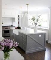 70+ Amazing Farmhouse Gray Kitchen Cabinet Design Ideas 64