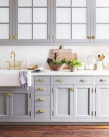 70+ Amazing Farmhouse Gray Kitchen Cabinet Design Ideas 74
