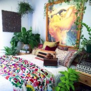 30+ Stunning Bohemian Bedroom Decor For Small Space (15)