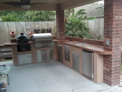 45+ Awesome Cooking With Amazing Outdoor Kitchen Ideas (12)