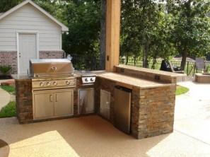 45+ Awesome Cooking With Amazing Outdoor Kitchen Ideas (21)