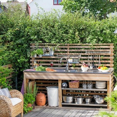 45+ Awesome Cooking With Amazing Outdoor Kitchen Ideas (30)