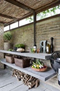 45+ Awesome Cooking With Amazing Outdoor Kitchen Ideas (40)