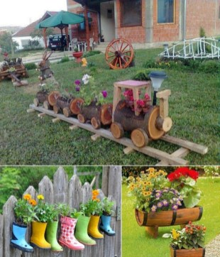 53+ Beautiful DIY Outdoor Garden Crafts Ideas to Make Your Garden More Beautiful (15)