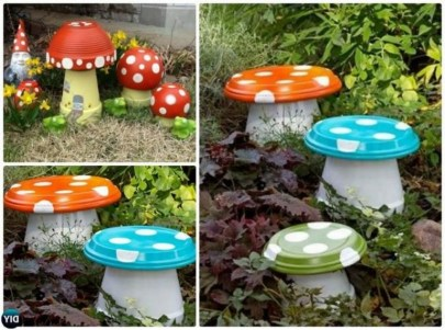 53+ Beautiful DIY Outdoor Garden Crafts Ideas to Make Your Garden More Beautiful (35)