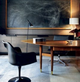 56+ Stunning Moody Mid Century Home Office Decor Ideas (21)