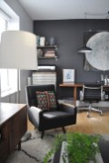 56+ Stunning Moody Mid Century Home Office Decor Ideas (25)