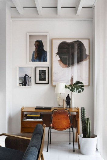 56+ Stunning Moody Mid Century Home Office Decor Ideas (37)