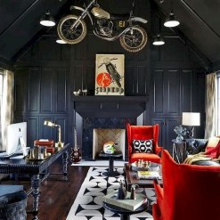 56+ Stunning Moody Mid Century Home Office Decor Ideas (8)