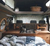 82+ Inspiring RV Camper Van Interior Design and Organization Ideas (40)
