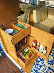 82+ Inspiring RV Camper Van Interior Design and Organization Ideas (44)