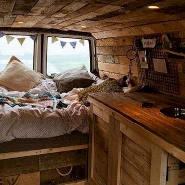 82+ Inspiring RV Camper Van Interior Design and Organization Ideas (66)