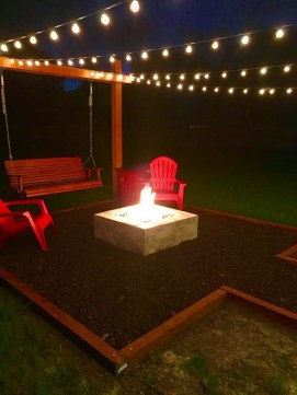 26+ Awesome DIY Fire Pit Plans Ideas With Lighting in Frontyard (22)