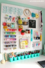 40+ Brilliant Ways To Organize Your Home With Pegboards (29)