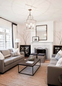 93+ Comfy Apartment Living Room in Black and White Style Ideas (15)