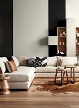 93+ Comfy Apartment Living Room in Black and White Style Ideas (2)