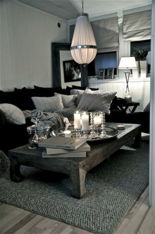 93+ Comfy Apartment Living Room in Black and White Style Ideas (21)
