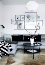 93+ Comfy Apartment Living Room in Black and White Style Ideas (49)