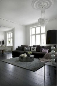 93+ Comfy Apartment Living Room in Black and White Style Ideas (53)
