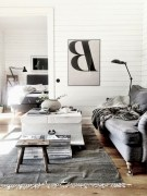 93+ Comfy Apartment Living Room in Black and White Style Ideas (69)