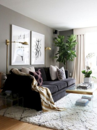 93+ Comfy Apartment Living Room in Black and White Style Ideas (79)