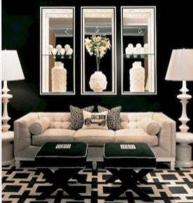 93+ Comfy Apartment Living Room in Black and White Style Ideas (8)