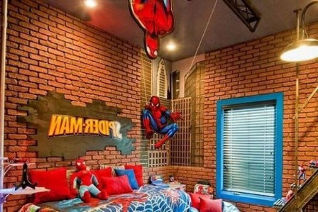 44+ Cool Superhero Theme Ideas For Boy's Bedroom (19)