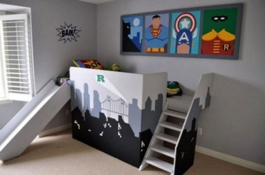 44+ Cool Superhero Theme Ideas For Boy's Bedroom (40)