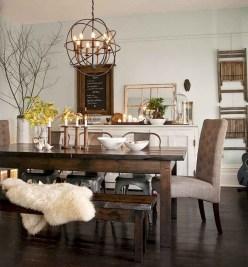 75+ Stuning Farmhouse Dining Room Decor Ideas 51