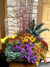 88+ Amazing Fall Container Gardening Ideas (39)