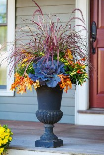 88+ Amazing Fall Container Gardening Ideas (73)