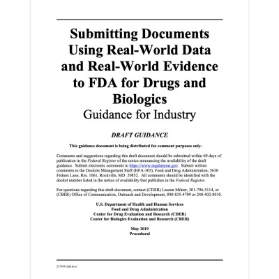 FDA Grudance - Submissions using RWE