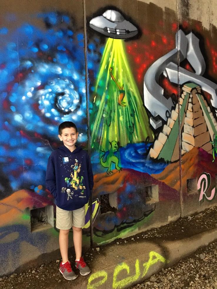 Cartyer Bourn In Graffiti Train Tunnel at Donner Summit