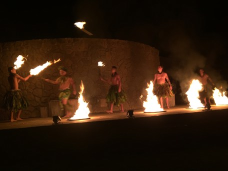Fire Dancers At Grand Luau at The Grand Wailea