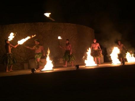 Fire Dancers At Grand Luau at The Grand Wailea