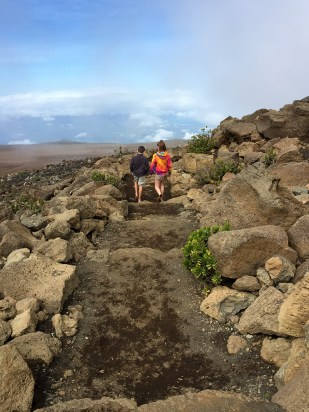 Hiking White Hill Trail at Haleakala Visitors Center in Maui
