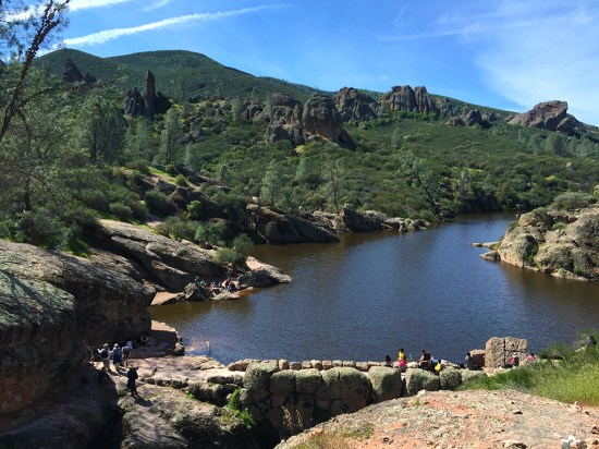 Bear Gulch Reservoir View From Rim Trail