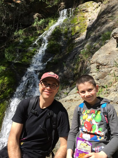 Brian and Carter Bourn at Codfish Falls