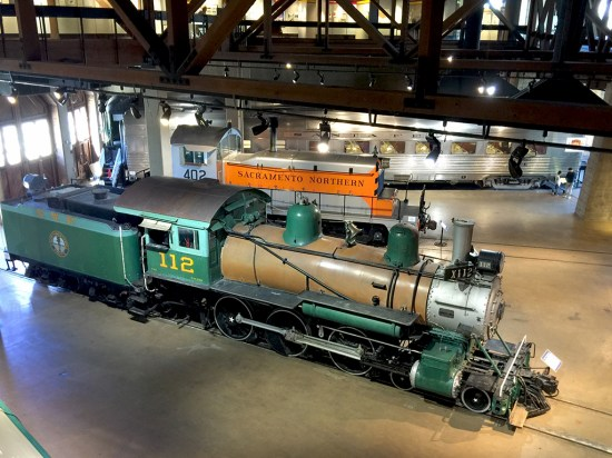 Restored Locomotives and Railroad Cars At The Sacramento Train Museum