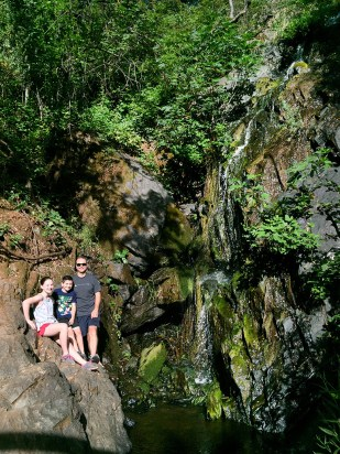 Family Hike to Calcutta Falls in The Auburn State Recreation Area State Park