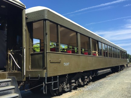 Family Steam Train Rides at Railtown 1897 State Historic Park in Jamestown California