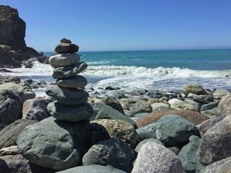 Rock Stacking at Limekiln State Beach