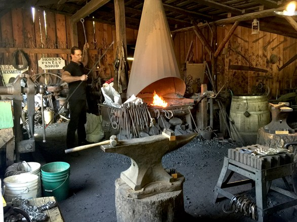 Working Blacksmith Shop In Columbia California