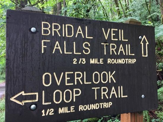 Bridal Veil Falls Trail Signage